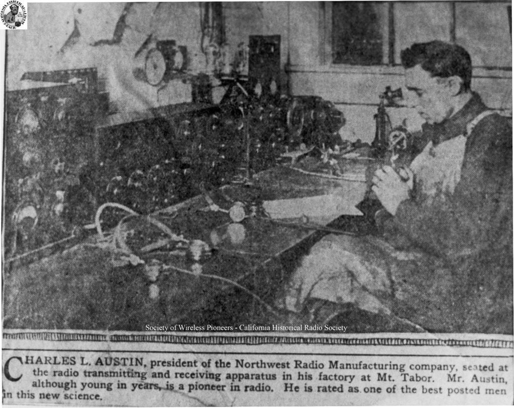 Charles L  Austin: Portland's First Broadcaster - Society of